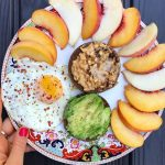 Paleo brekkie plate!  whatsonmyplate ?? Peach slices an egghellip